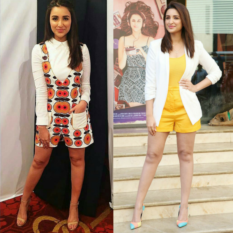 parineeti shows how to wear romper dress in summer