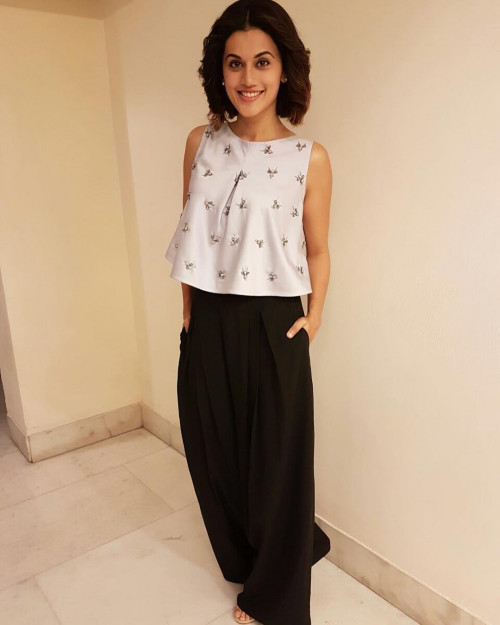 tapsee pannu palazzo fashion ciceroni ditch denims this summer