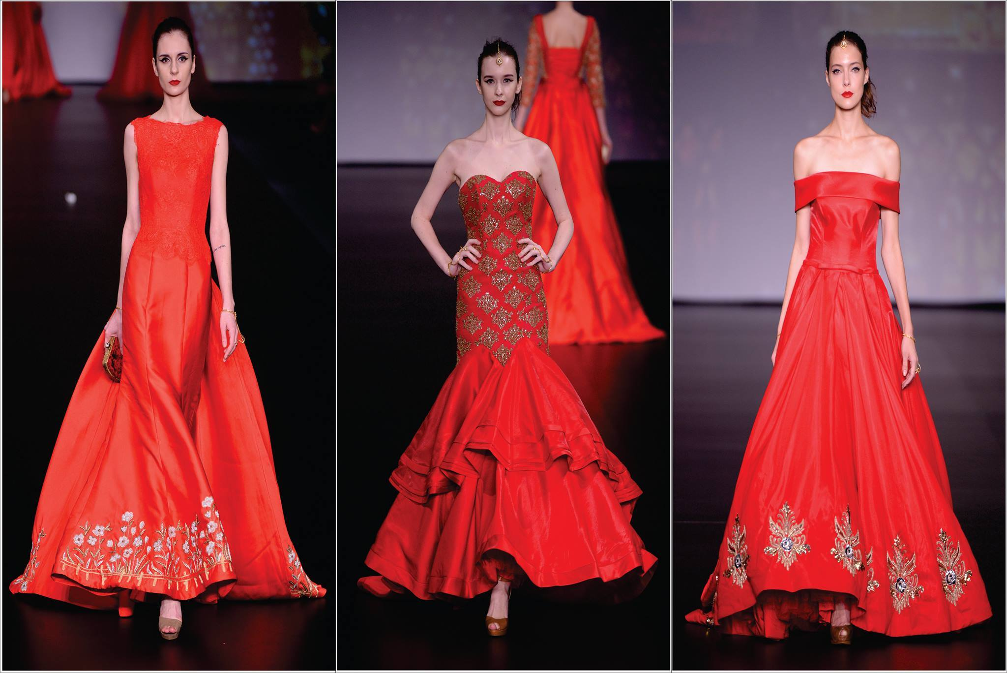 AVAKASA COLLECTION OF RED BRIDAL GOWNS