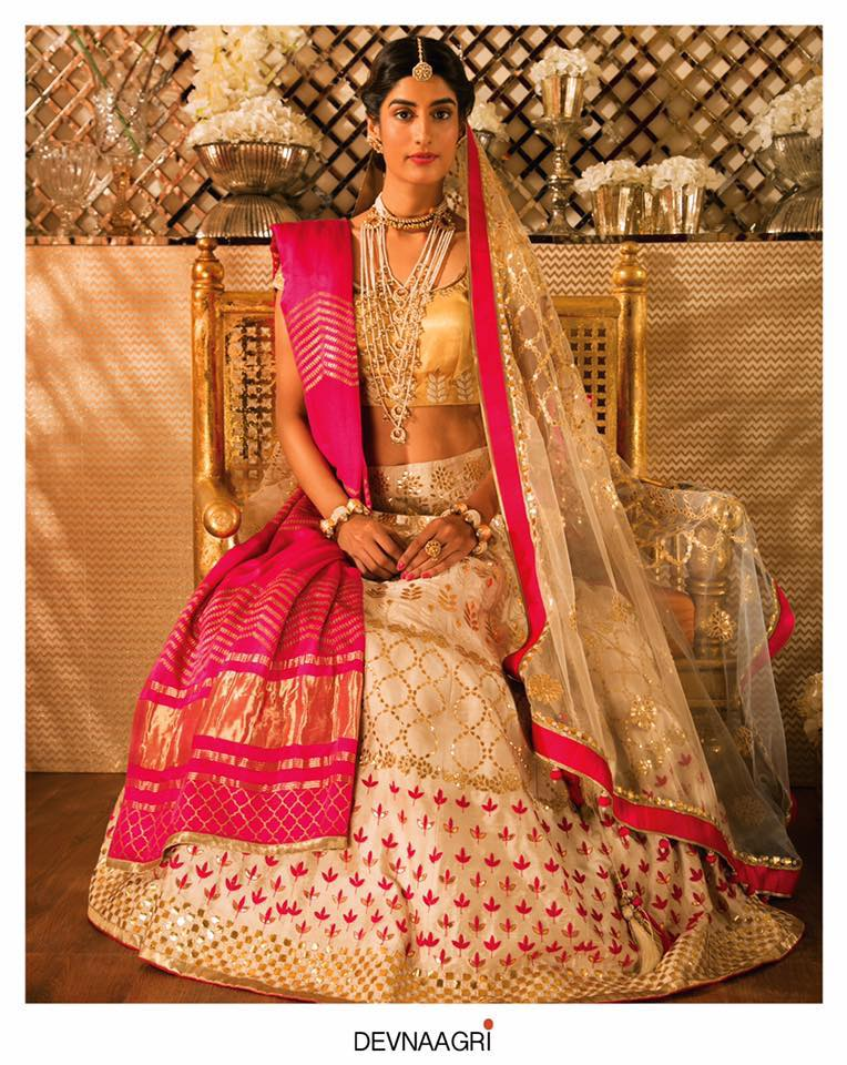 beautiful bridal outfit at monsoon designer store ahmedabad