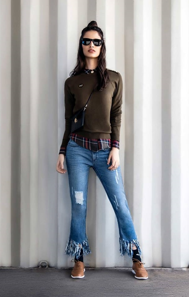 black jacket with blue jeans by lifestyle