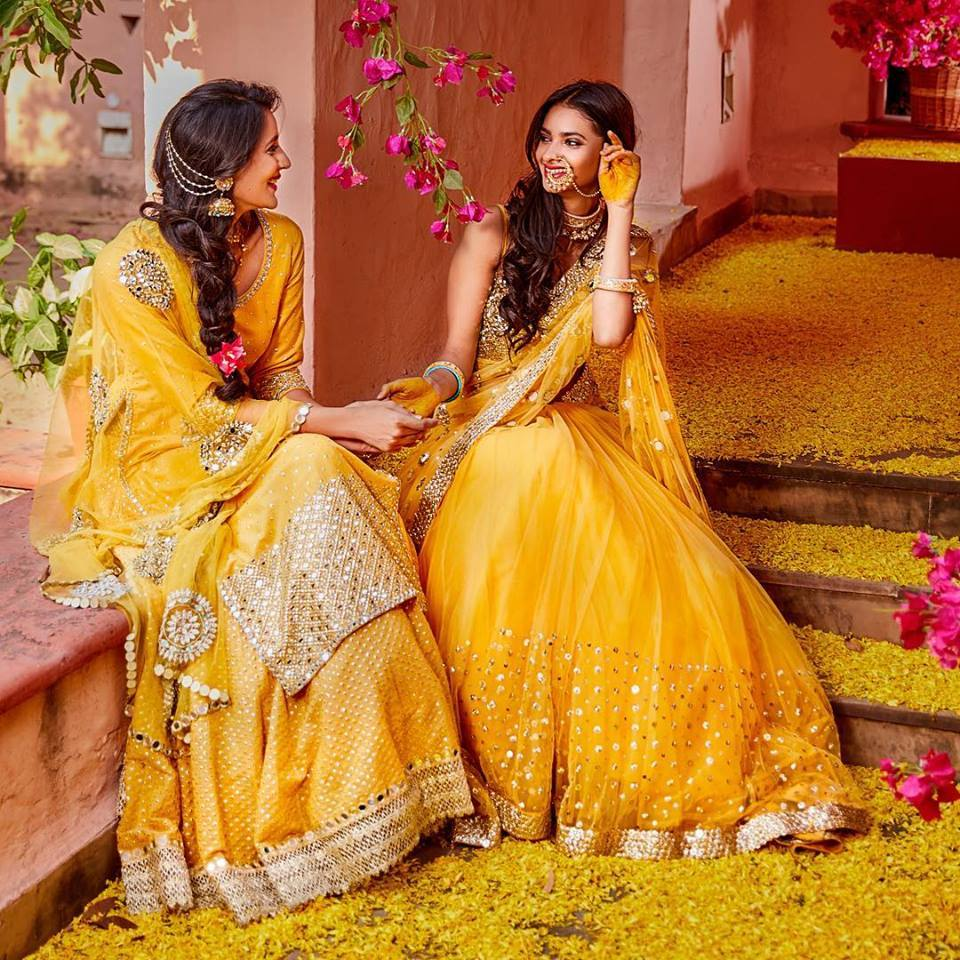 bridal lehenga for haldi at monsoon store