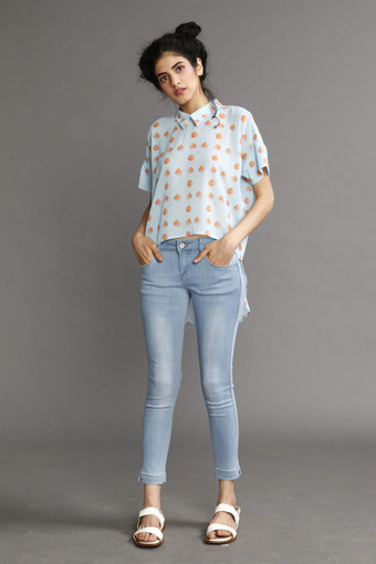 chic top and jeans at shoppers stop in ahmedabad