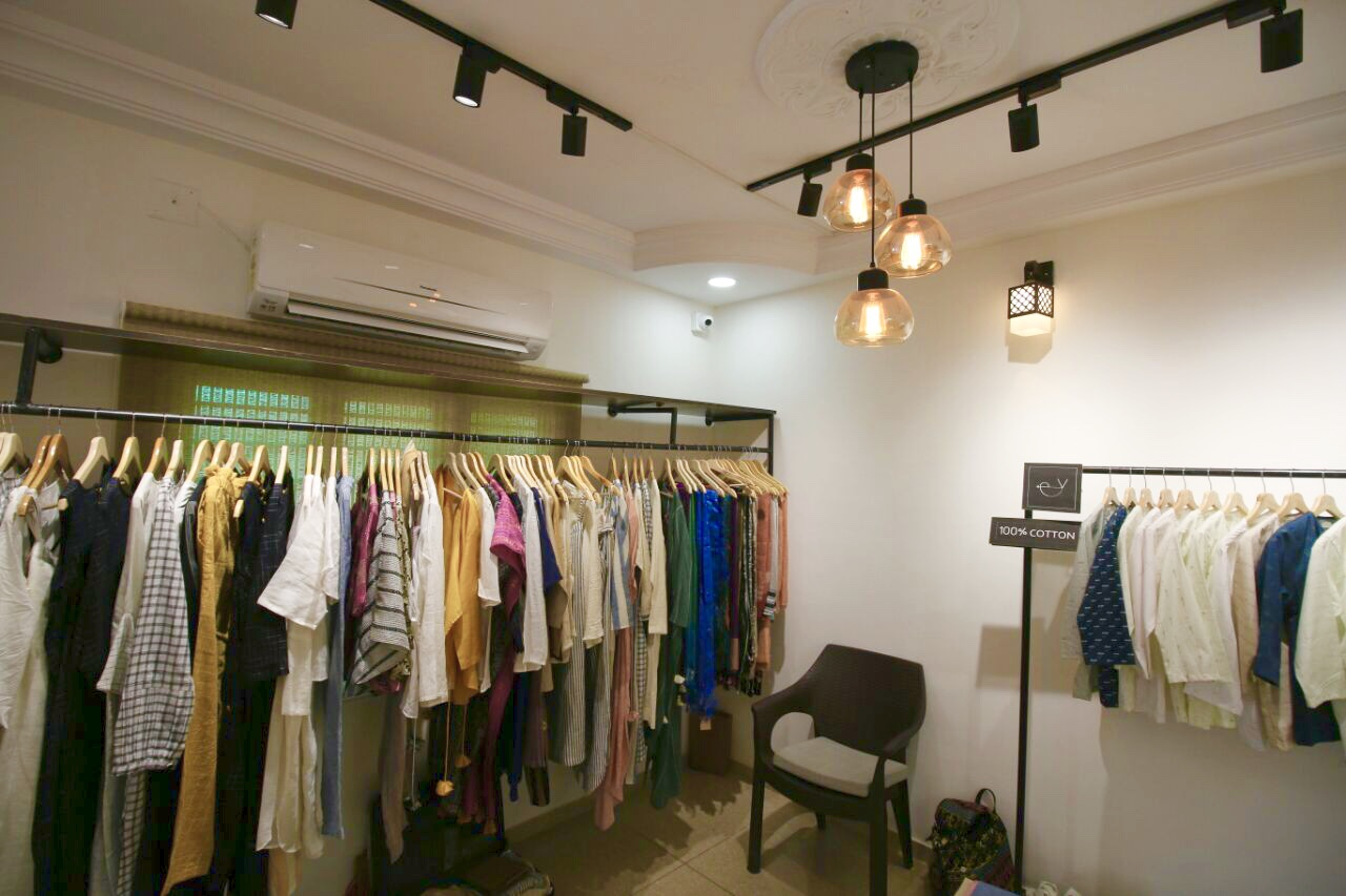 clothes at display at merak gallery