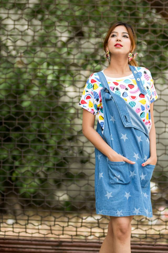 dungarees and funky top by globus on ciceroni