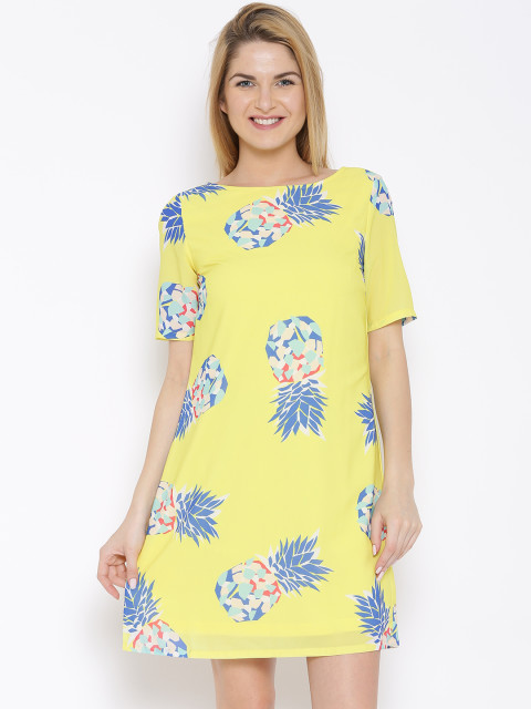happy yellow short dress of united colors of benetton