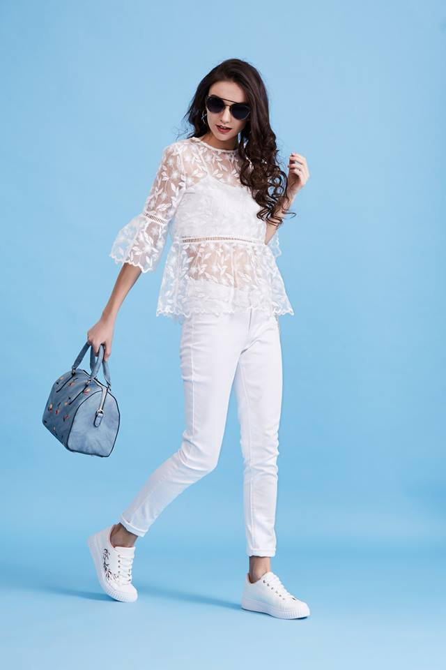 lacy all white dress by lifestyle