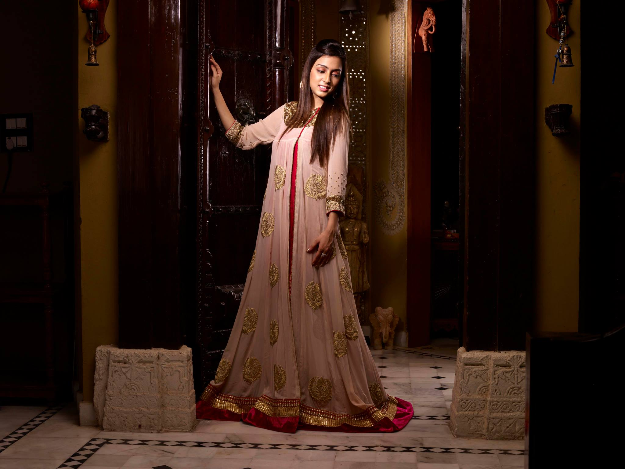 long anarkali gown at sans