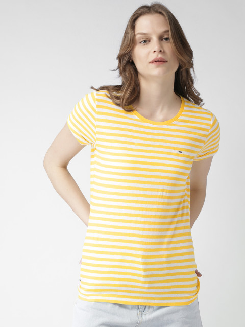 plain yellow tee by tommy hilfiger