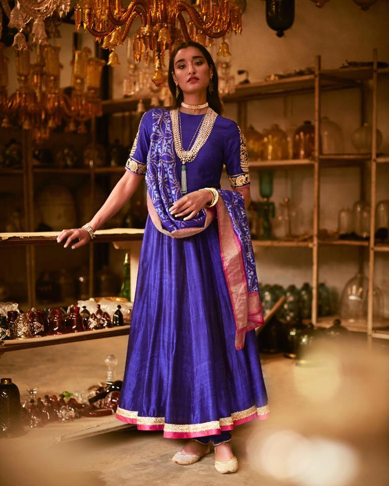 purple wedding wear at elan multidesigner store