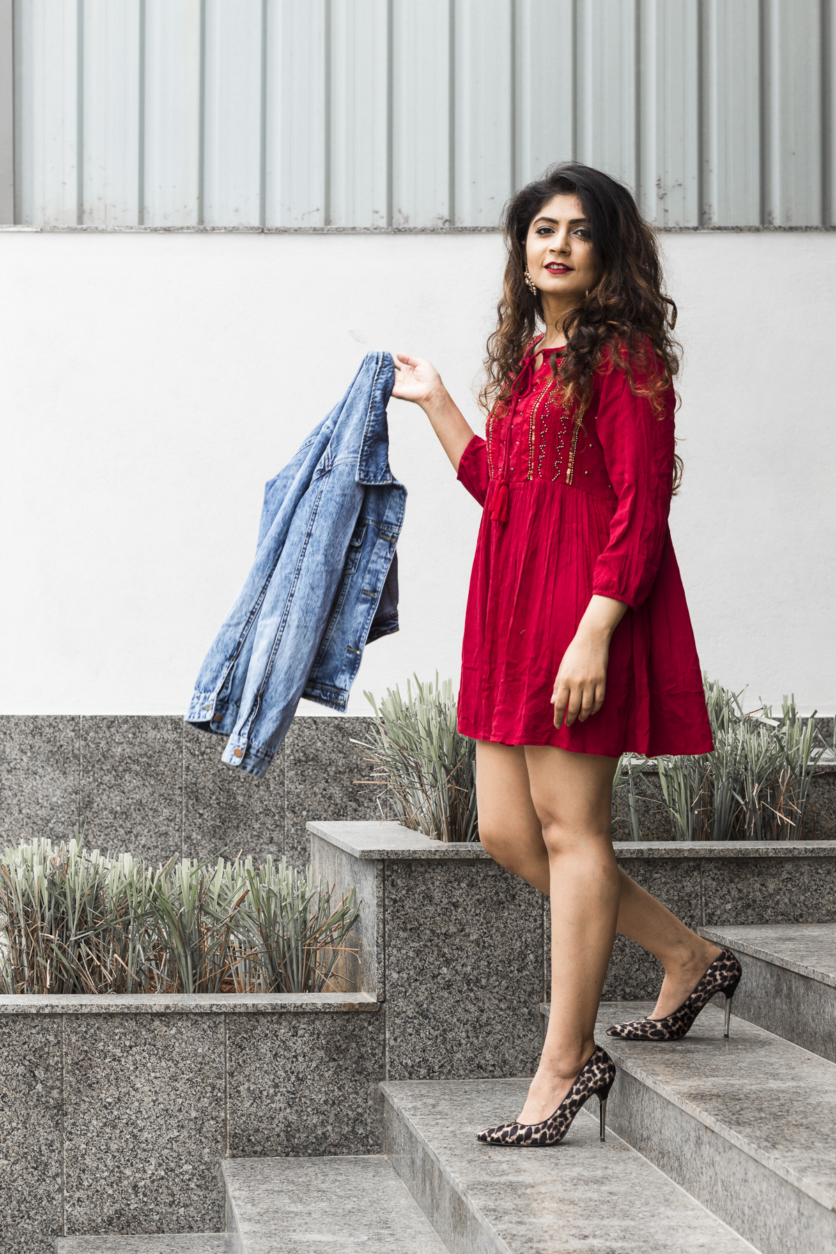 red dress by max fashion