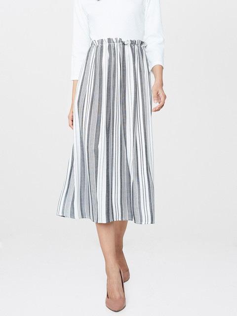 striped skirt and white top at and ahmedabad