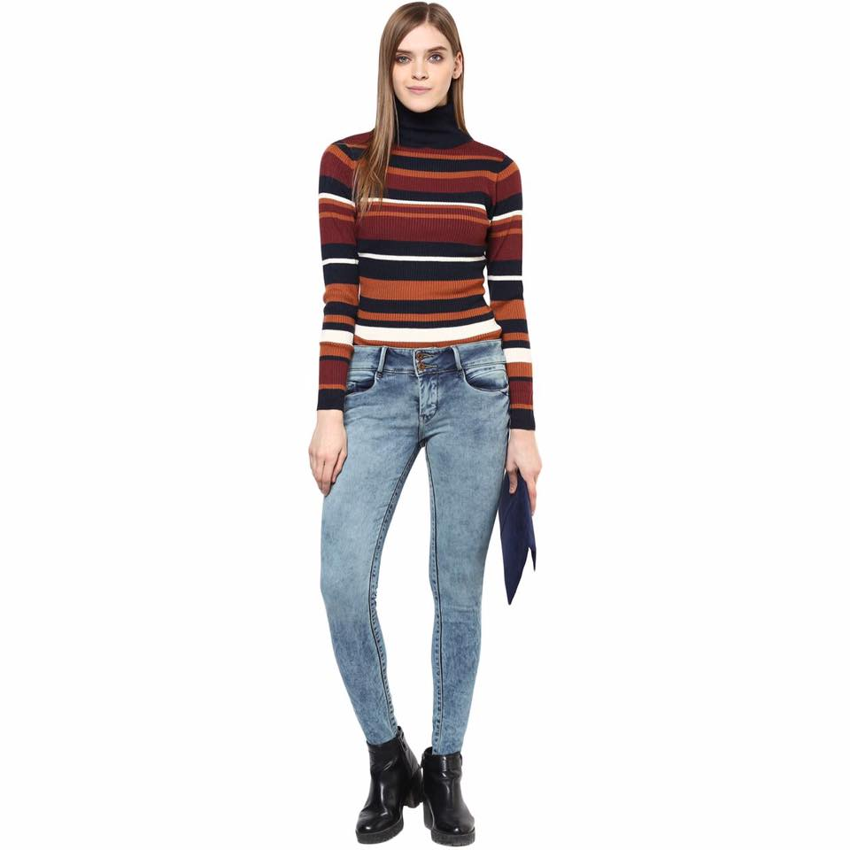 striped t shirt by one way