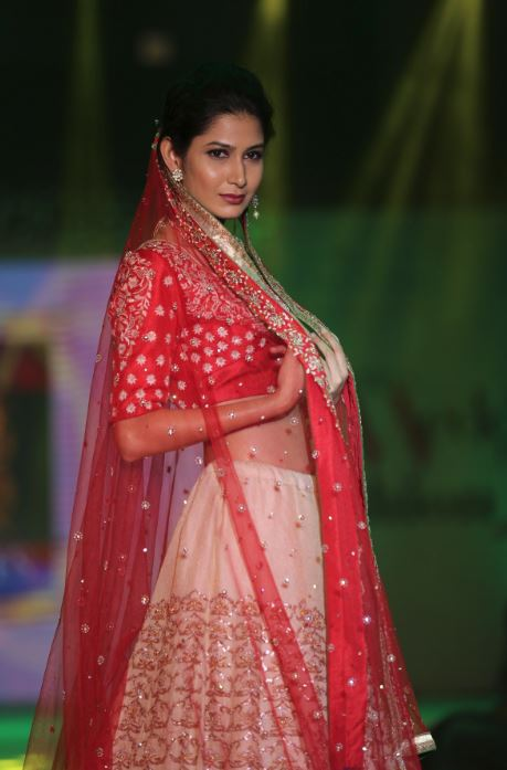 viral ashish bridal collection in red white