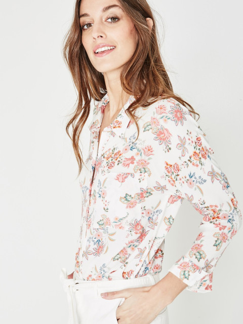 white floral top by promod western wear