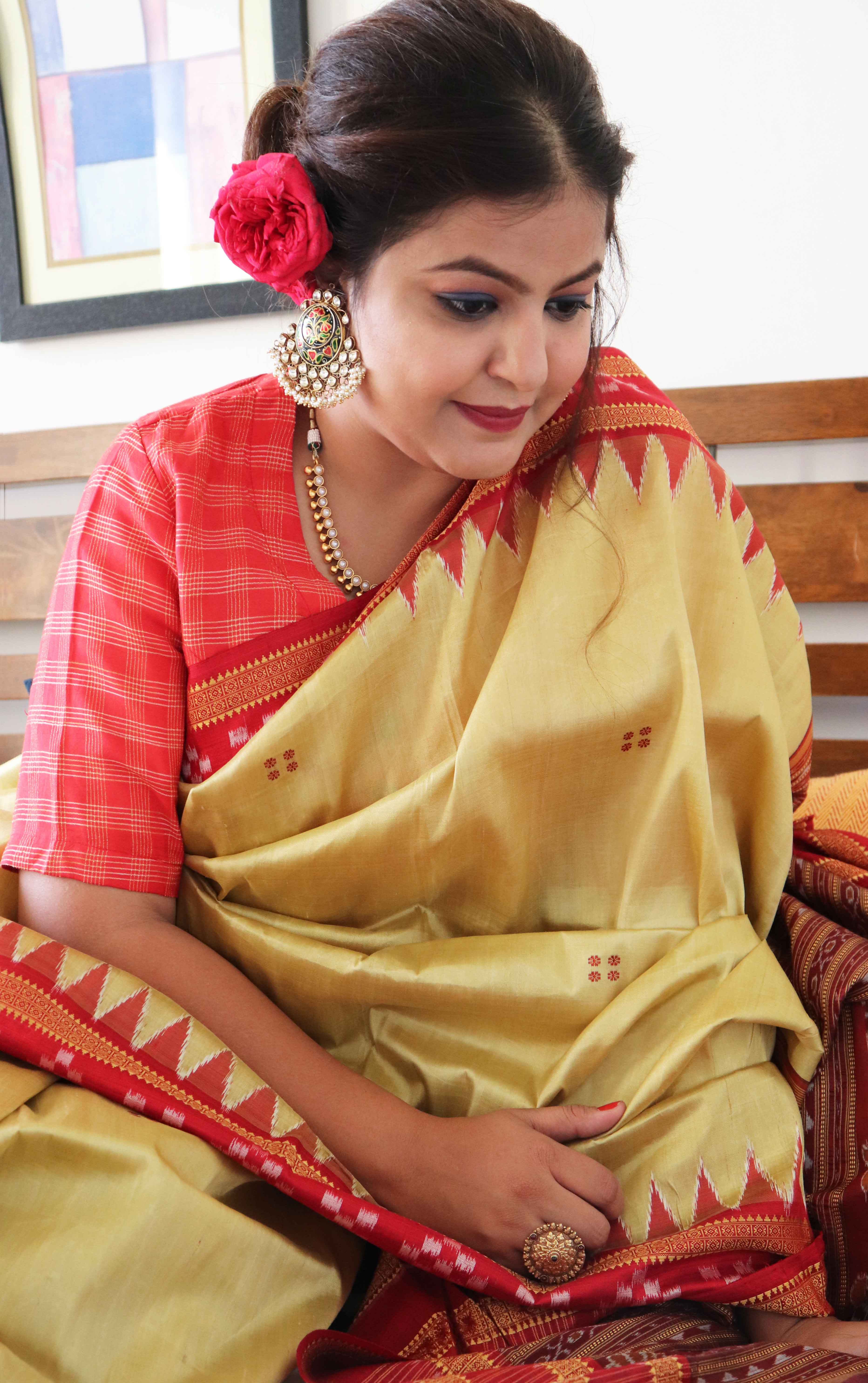 Ciceroni, fashion, lifestyle, shopping in Ahmedabad, your local shopping guide, Diwali look, festive fashion, saree, handloom, Orissa ikat