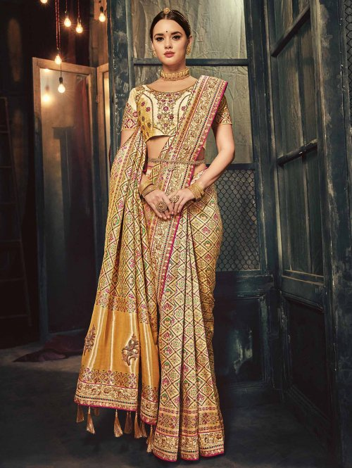 e0e36b92cd Shop from their awe-inspiring collection of bridal silk sarees, lehenga  cholis, gowns in indo-western silhouettes and anarkalis.