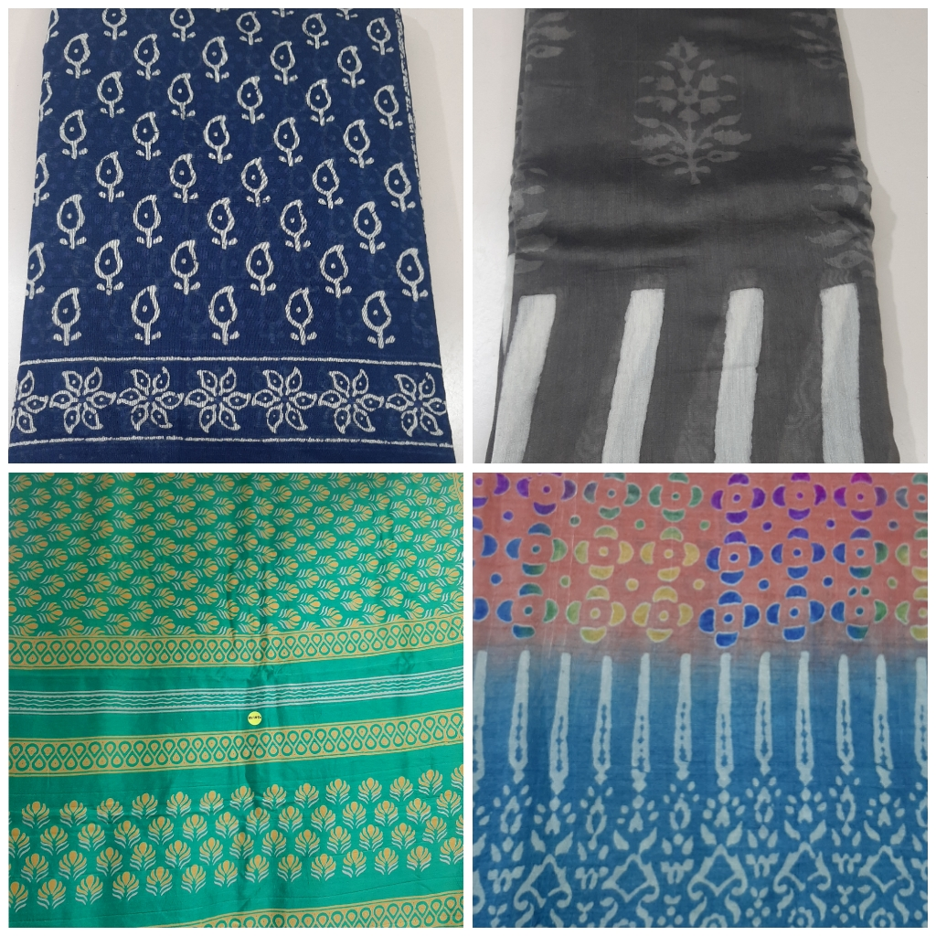 Indigo saree, grey saree, block print, multi colour saree, cotton sarees, handwoven sarees, printed sarees, Sejal handicrafts, vadodara shopping