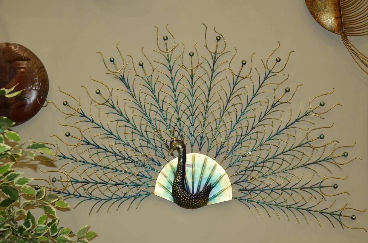 peacock wallpiece