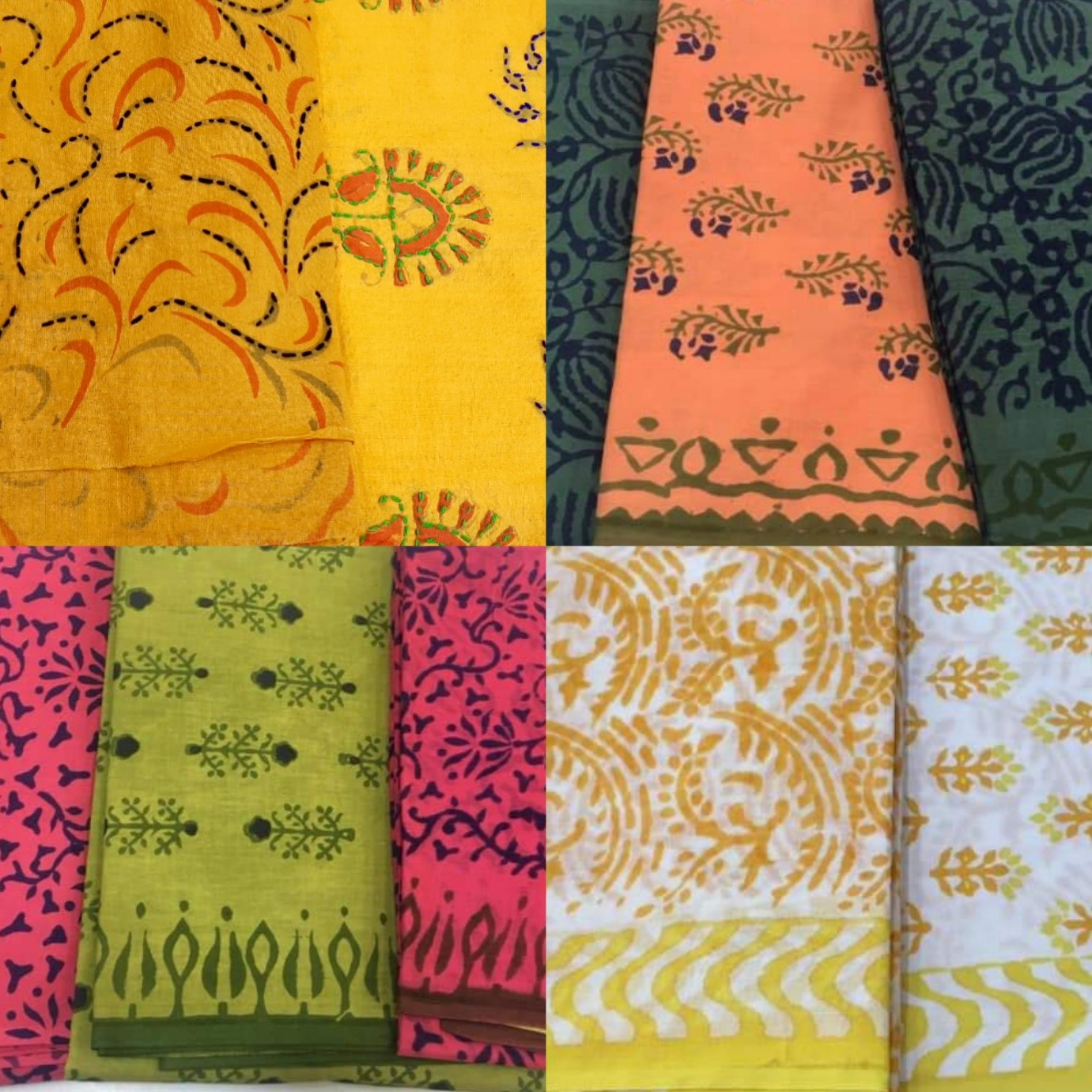 Baroda prints, dress material, dresses, printed dress material, cotton dress material, vadodara,yellow,