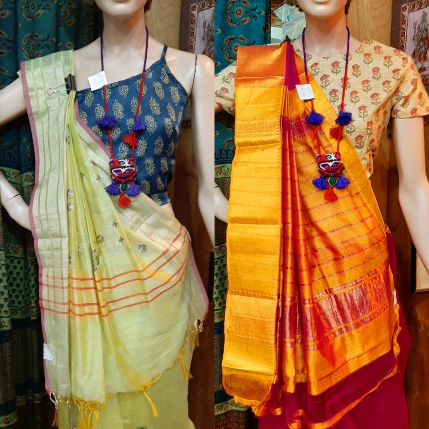 ethnic weave, handwoven sarees, ajrakh print, tank tops, spaghetti blouse, crop tops, ethnic top, friendship vadodara,