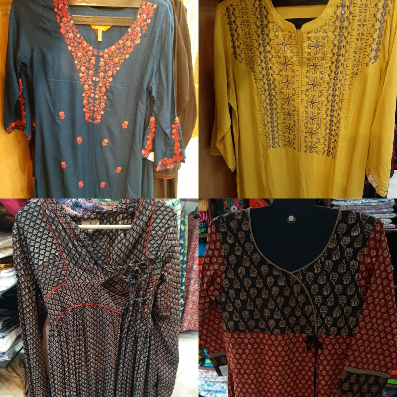 kurtis, embroidery, vadodara, shopping, friendship,