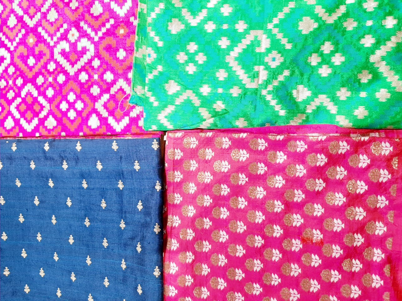 brocades, pink, indigo, green, seasons Vadodara, baroda shopping, seasons vadodara, festive, printed fabric, choli fabric,