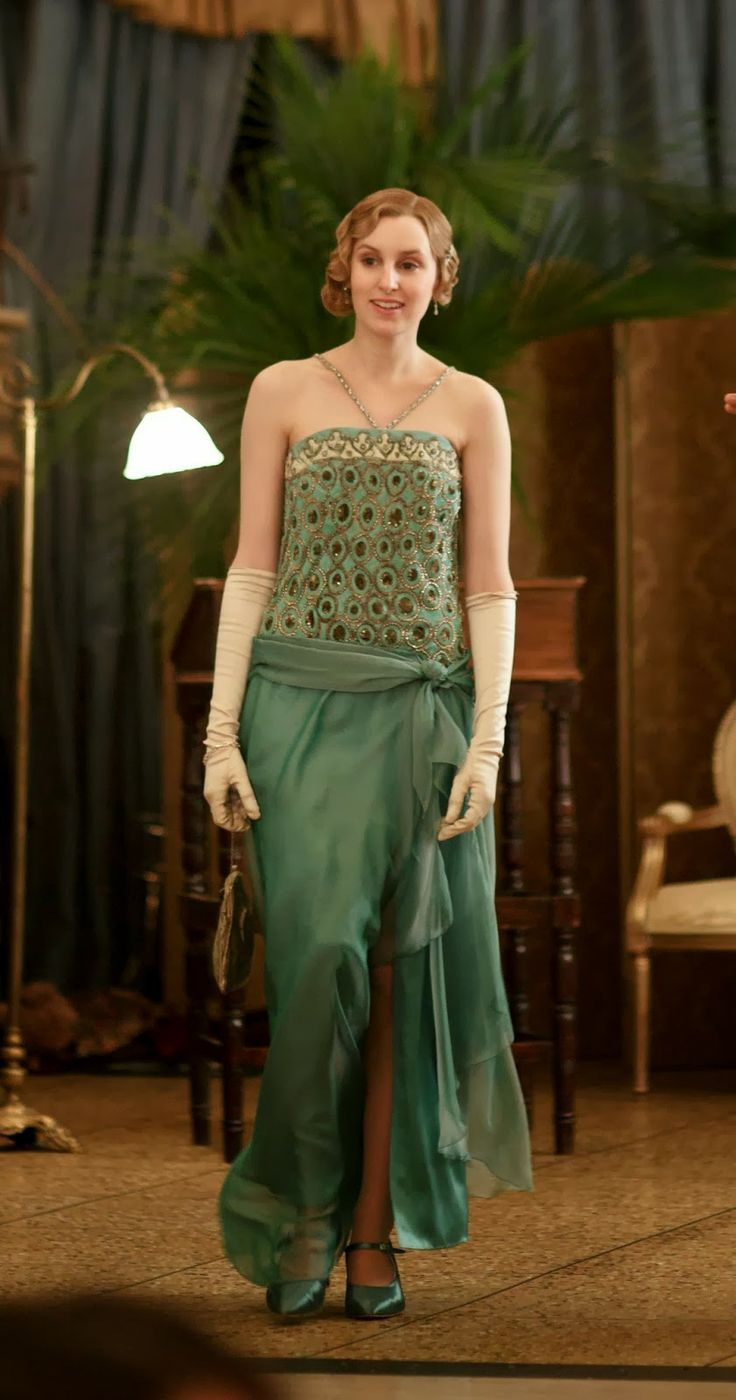 lady edith peacock dress