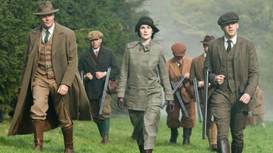 downton abbey hunting