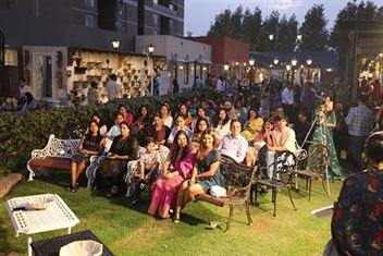 Audience at women's day event