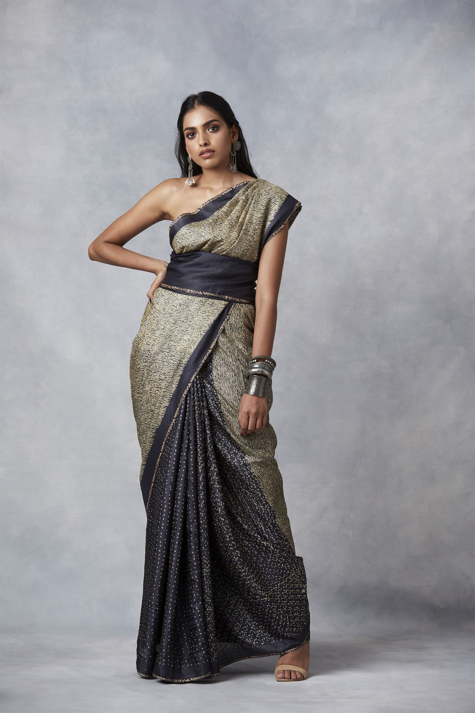 Bodhi saree designed by Mala and Pradeep Sinha, Truly sustainable small business in Vadodara , India
