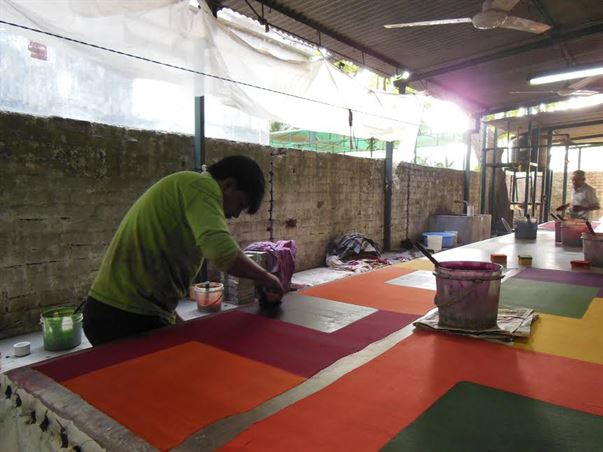 Block Printing at Bodhi unit, truly sustainable business in Vadodara, India