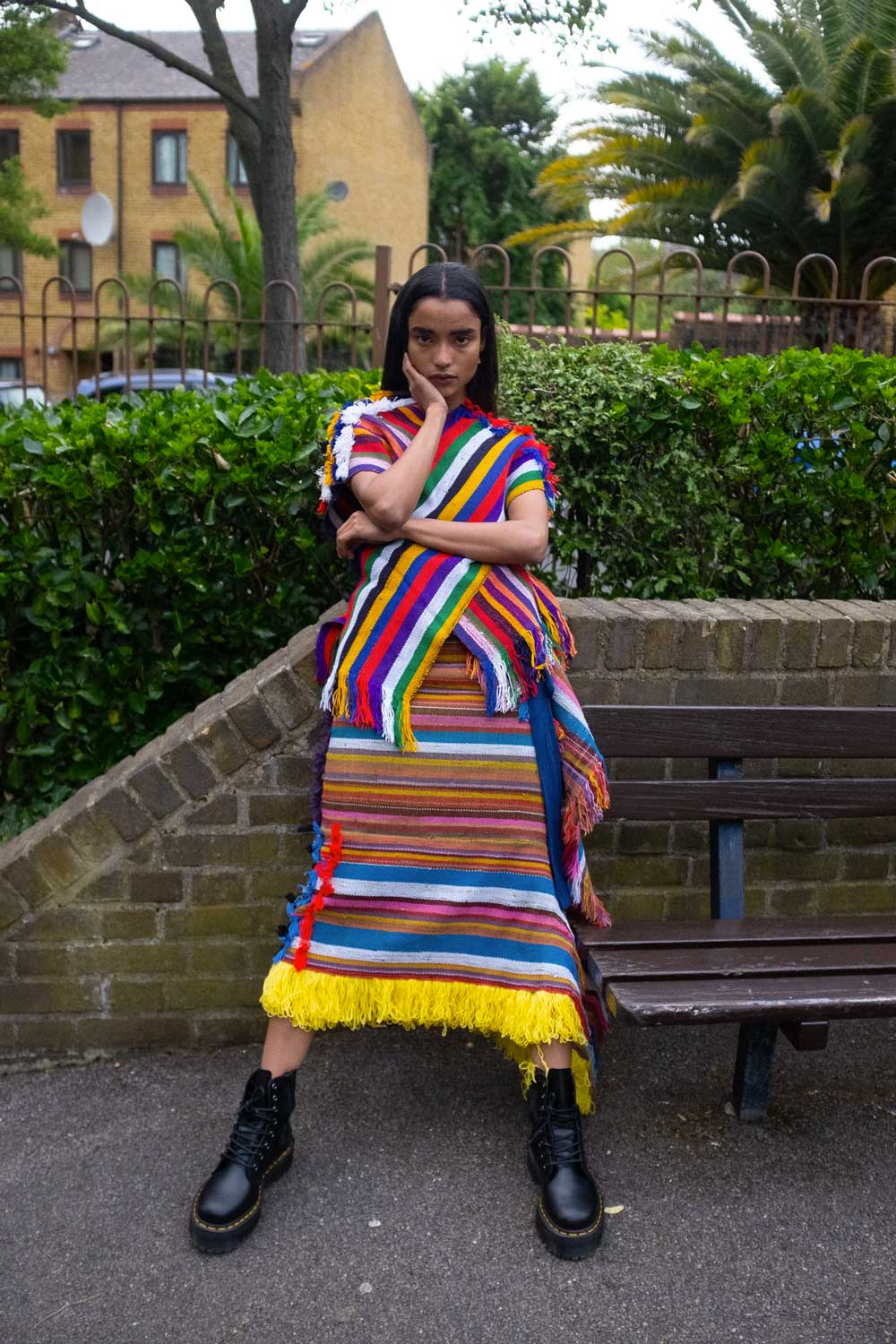 Cross Fringed Top & skirt by I AM ISIGO at NOBORDERS