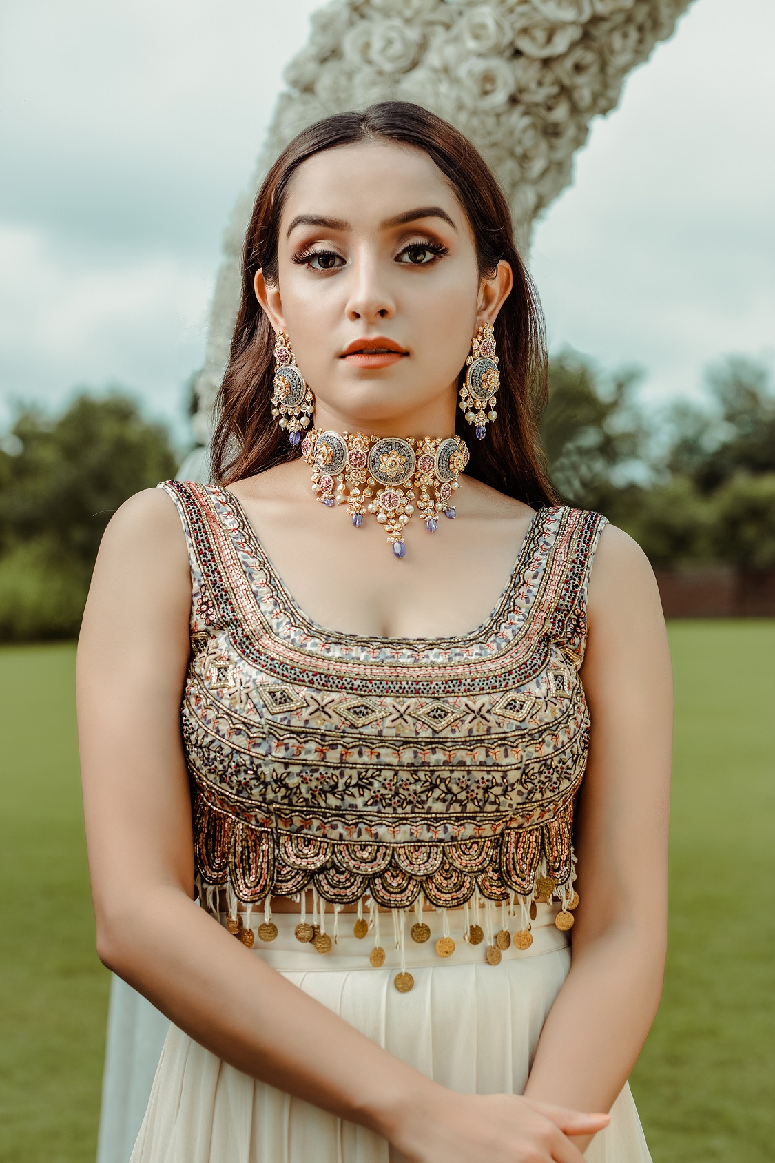 Ciceroni – bridal jewellery – Indian bridal jewellery – pooja diamonds – pooja diamonds Mumbai –pooja diamonds Ahmedabad – Indian wedding jewellery –  Weddings in India – trousseau – bridal wear