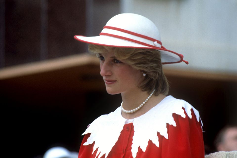 Princess Diana in red