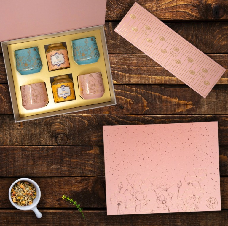 Ciceroni – Diwali gifting – Diwali festive 2020 – festive gifting 2020 - Fossilised Nose Ornaments by Alankaara - Glam Up Diwali Hamper by Ilana Organics - Box of 12 Bonbons by Entisi - Diwali Gift Hamper by The Good Road - Chai Kulhar Gift Box by Dancing Leaf