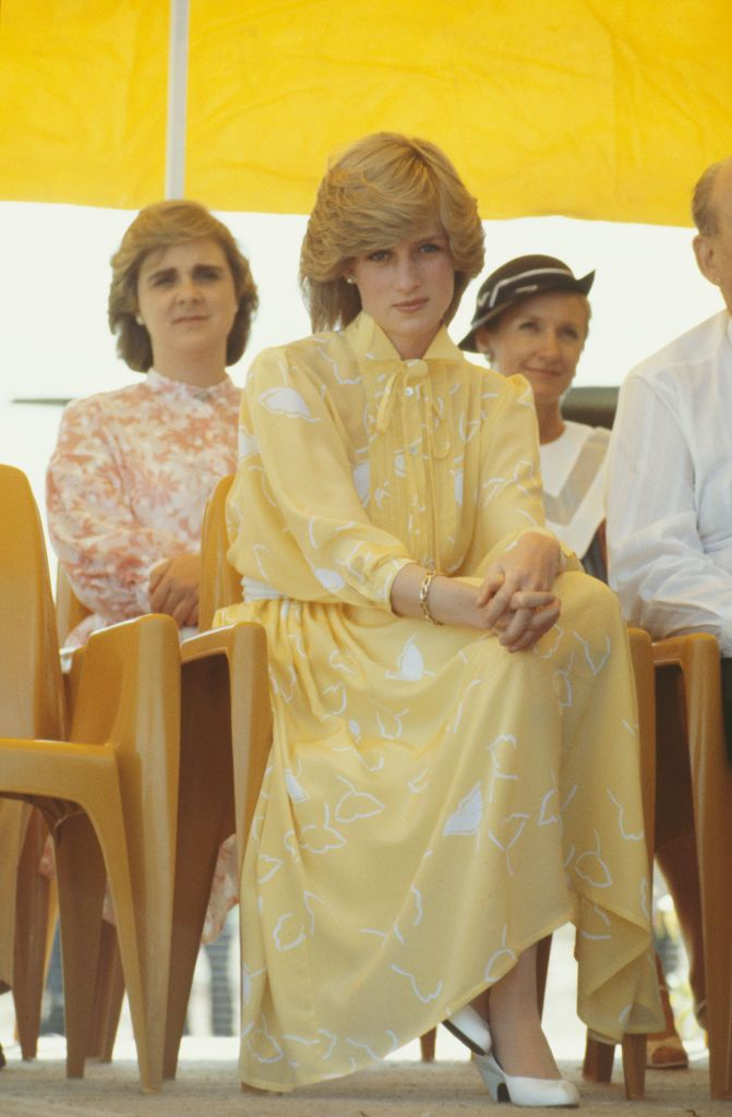 Lady Diana in Powder Yellow