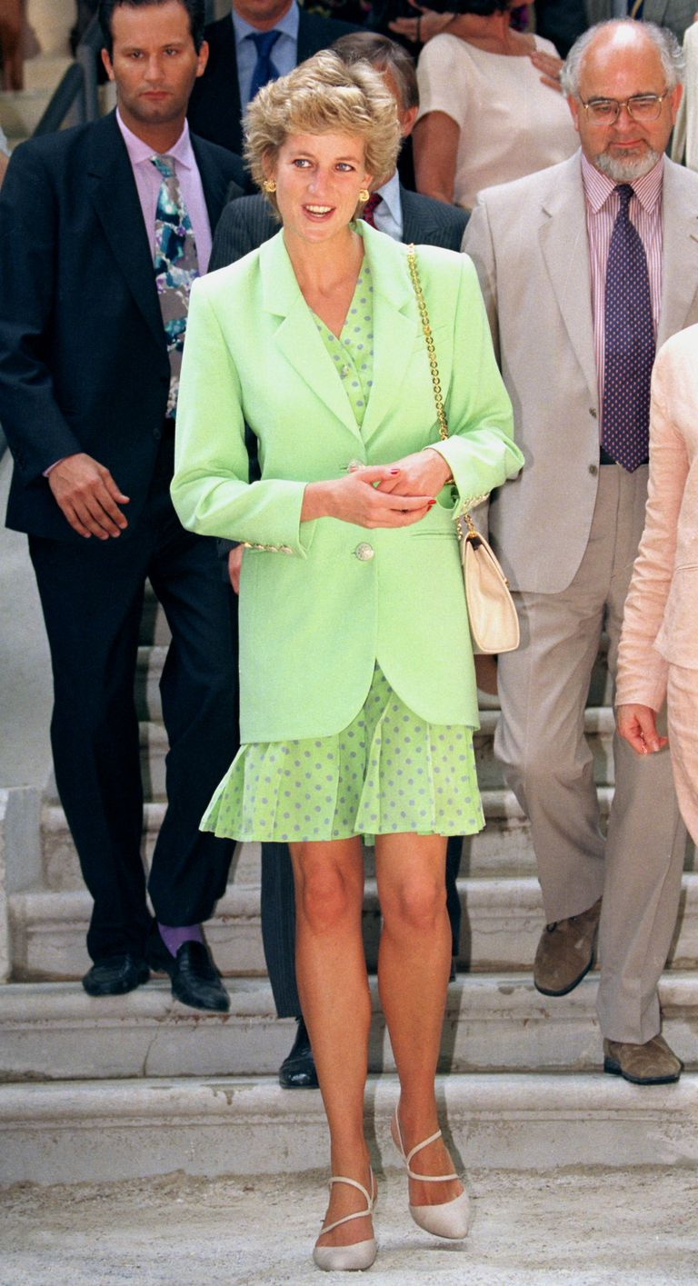 Lady Diana in pastel green