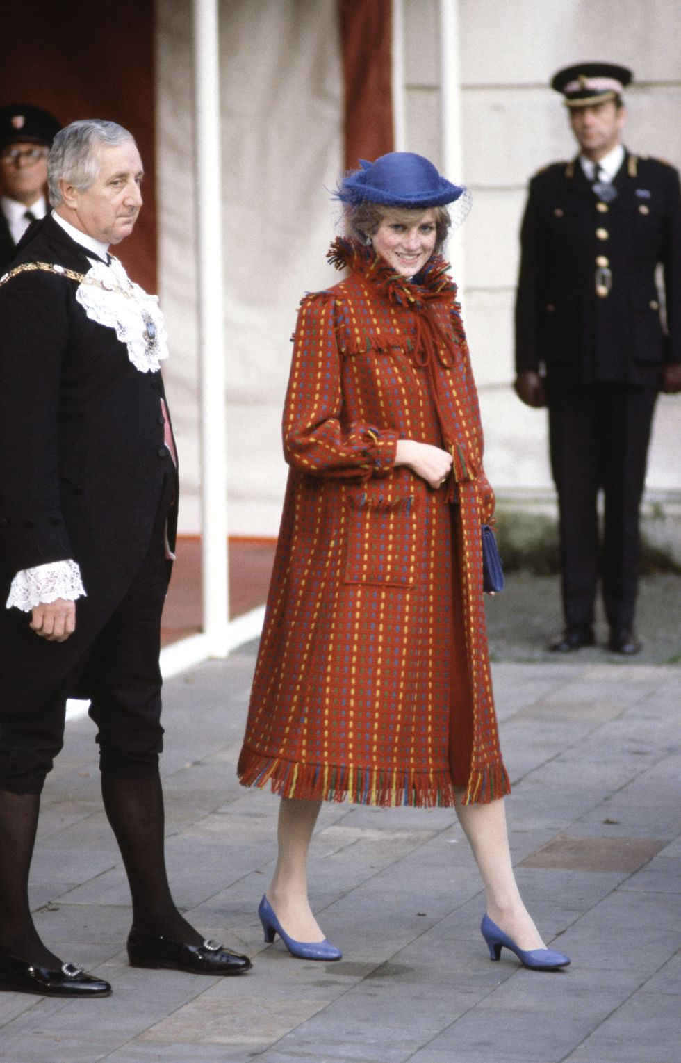 Lady Diana in trench coat