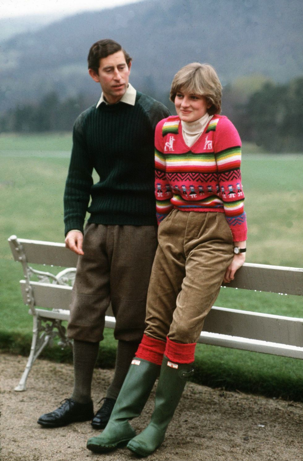 Princess Diana and Prince Charles at Balmoral castle
