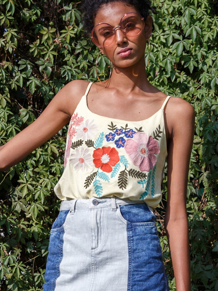 Embroidered Camisole Top