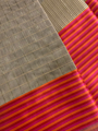 Cotton Checkered Zari Saree