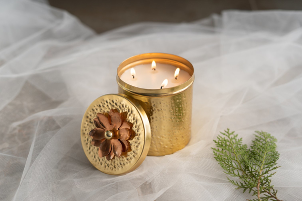Metal Scented Candle